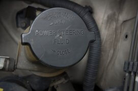 power steering bottle fluid car automobile